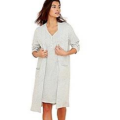 Lounge & Sleep - Grey stripe print jersey wrap