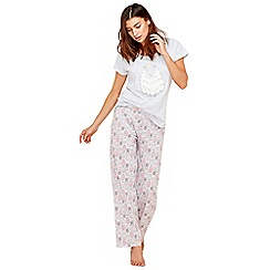 Lounge & Sleep - Grey sheep print cotton blend pyjama set