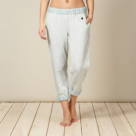 Iris & Edie - Pale grey roll top jogger pyjama bottoms