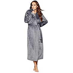J by Jasper Conran - Grey island fleece dressing gown