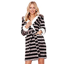 Lounge & Sleep - Grey fluffy raccoon dressing gown