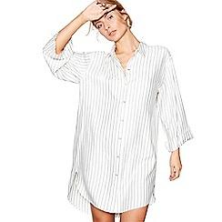J by Jasper Conran - Cream stripe print 'Hygge' nightshirt