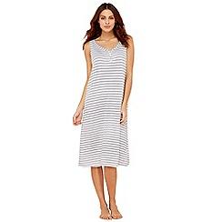 Lounge & Sleep - White stripe cotton sleeveless nightdress