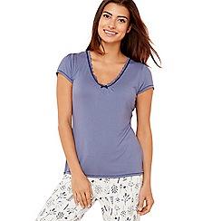 Lounge & Sleep - Blue 'Making Waves' short sleeve pyjama top