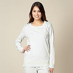 Iris & Edie - Pale grey flecked sweater pyjama top