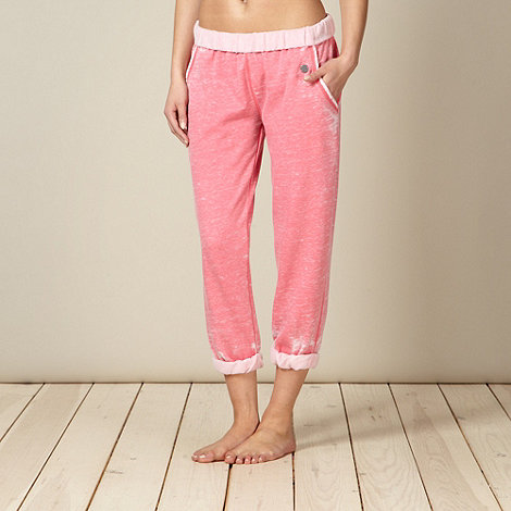 Iris & Edie - Pink roll top jogger pyjama bottoms