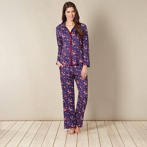 Cyberjammies - Dark purple floral pyjama set