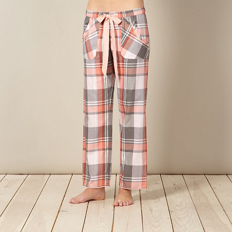 Cyberjammies - Pink checked ribbon pyjama bottoms