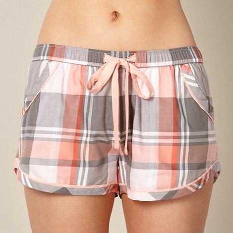 Cyberjammies - Pink checked ribbon pyjama shorts