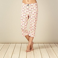Floozie by Frost French - Pink floral cropped pyjama bottoms