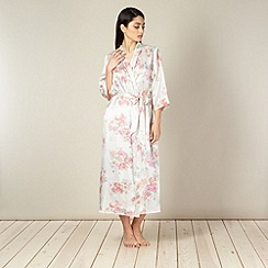 Presence - Cream long floral satin wrap