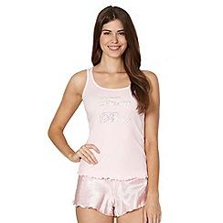 Presence - Pink 'Team Bride' vest and spotted short pyjama set