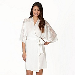 Presence - Ivory diamante lace short wrap
