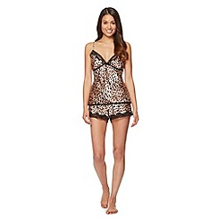Presence - Natural leopard cami and shorts set
