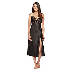 Presence - Black satin stud night dress