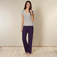 Lounge & Sleep - Natural striped and plain pyjama set