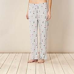 Lounge & Sleep - Grey jersey dog print pyjama bottoms