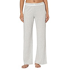Lounge & Sleep - Light grey striped long pyjama bottoms