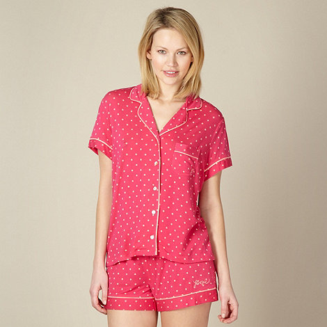 Floozie by Frost French - Pink spotted shirt pyjama set