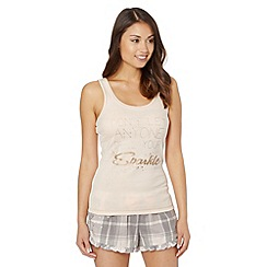 Floozie by Frost French - Pale pink 'Sparkle' vest and shorts pyjama set