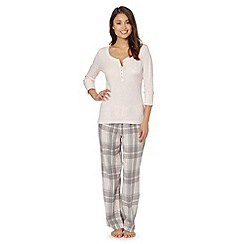 Floozie by Frost French - Pale pink checked pyjama set