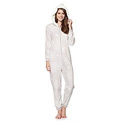 Floozie by Frost French - Grey snowflake fleece onesie
