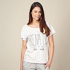 Iris & Edie - White frozen lolly printed 'Dream On' pyjama t-shirt