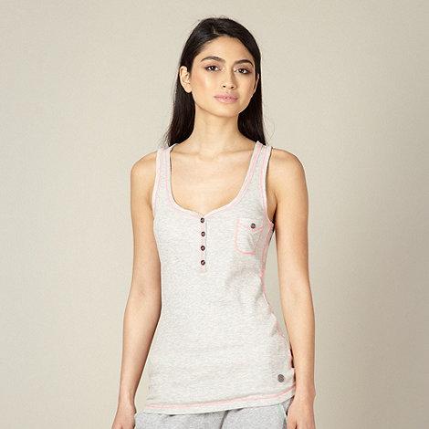 Iris & Edie - Beige ribbed pyjama vest