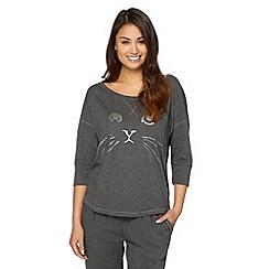 Iris & Edie - Dark grey dark grey cat print t-shirt