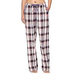 Iris & Edie - Dark grey checked pyjama bottoms