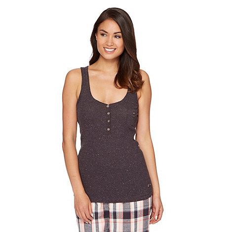Iris & Edie - Dark grey ribbed pyjama vest