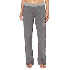 Iris & Edie - Grey roll top long pyjama bottoms