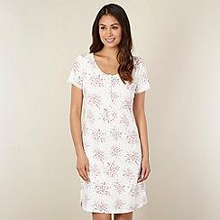 RJR.John Rocha - Designer cream mini floral night shirt
