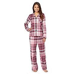 RJR.John Rocha - Designer purple checked pyjama set