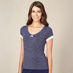 J by Jasper Conran - Designer navy mini floral print pyjama top