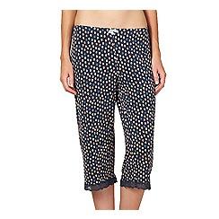 J by Jasper Conran - Designer dark green spotted crop pyjama bottoms