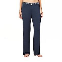 J by Jasper Conran - Designer dark green spot trim pyjama bottoms