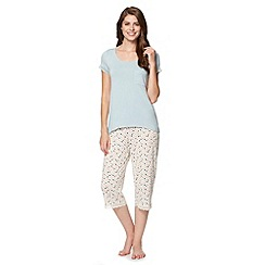J by Jasper Conran - Designer light blue top and spotted bottoms pyjama set