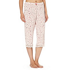 J by Jasper Conran - Designer pale pink bow patterned cropped pyjama bottoms