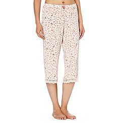 J by Jasper Conran - Designer pale pink bow patterned cropped pyjama bottoms