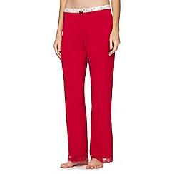J by Jasper Conran - Designer dark pink lace trim pyjama bottoms