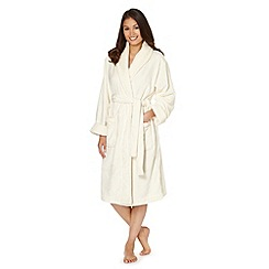J by Jasper Conran - Designer cream mink dressing gown