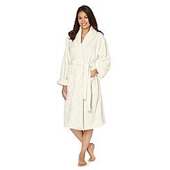 J by Jasper Conran - Designer cream mink dressing gown