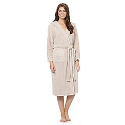 J by Jasper Conran - Designer natural luxury hooded fleece dressing gown