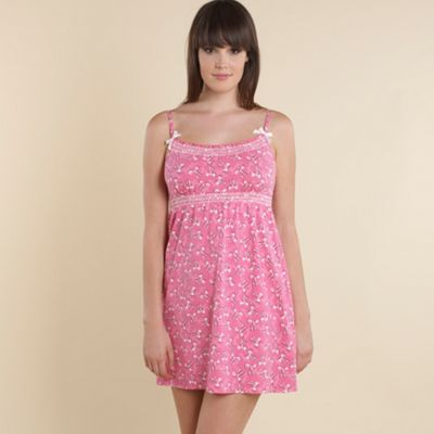 Pink bow print chemise