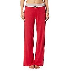 Lounge & Sleep - Red plain long Christmas pyjama bottoms