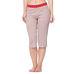 Lounge & Sleep - Red striped cropped pyjama bottoms