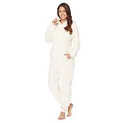 Lounge & Sleep - Cream polar bear Sherpa fleece onesie