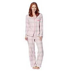 Presence - Pale pink checked pyjama set