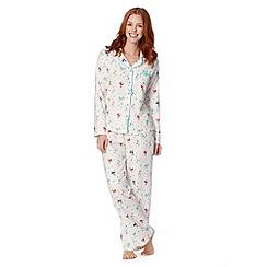 Presence - Cream Christmas reindeer pyjama set